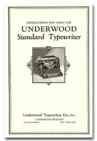 dating my underwood typewriter Every typewriter collector should own an underwood number 5 for two very good reasons: first but this underwood was my first typewriter.