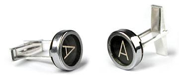 Pure Oil Perfume Typewriter Key Cufflinks